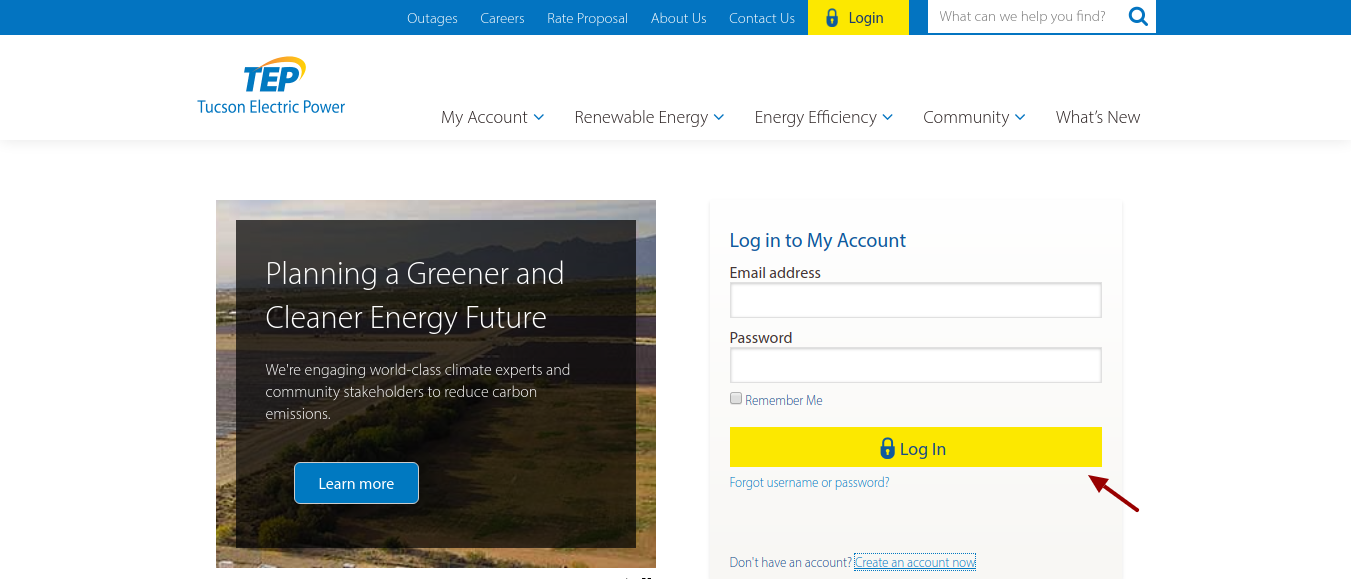 Tucson Electric Power login