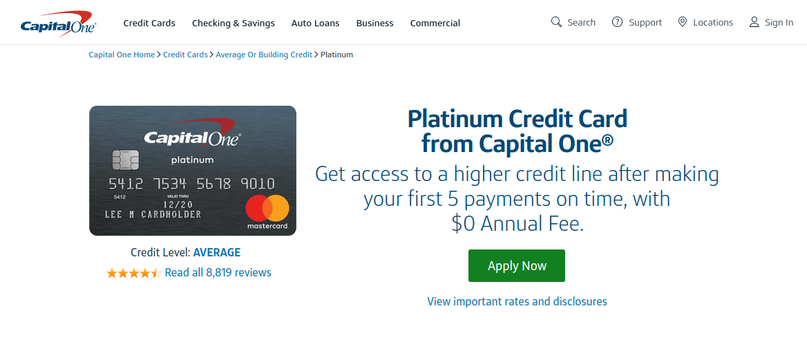 www.capitalone.com/credit-cards - How To Pay Capital One Platinum