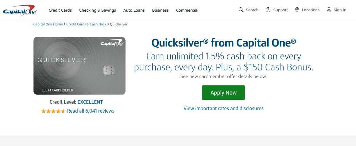 capital one quicksilver card logo