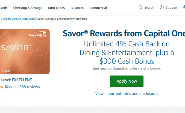 Savor Rewards Credit Card logo