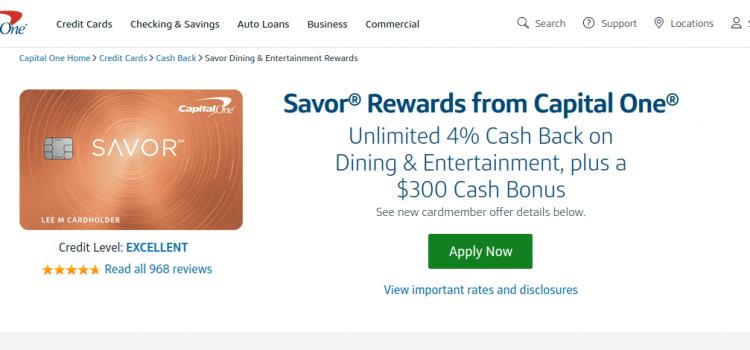 www.capitalone.com/credit-cards – Capital One Savor Rewards Bill Payment Guide
