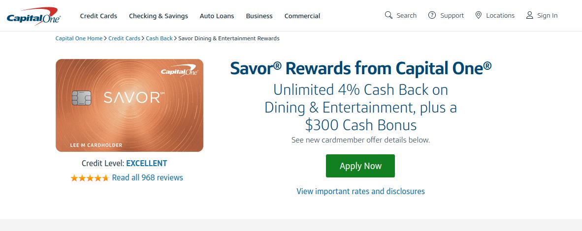 Savor Rewards Credit Card logo