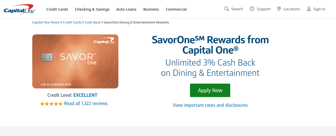 SavorOne Rewards Credit Card _ Cash Back on Dining & Grocery Stores _ Capital One