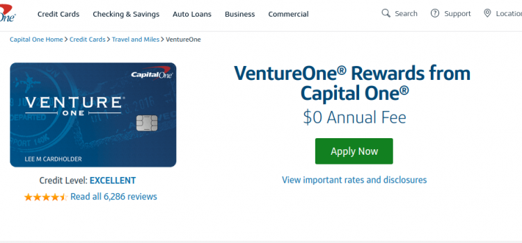 www.capitalone.com/credit-cards – Capital One VentureOne Rewards Online Bill Pay