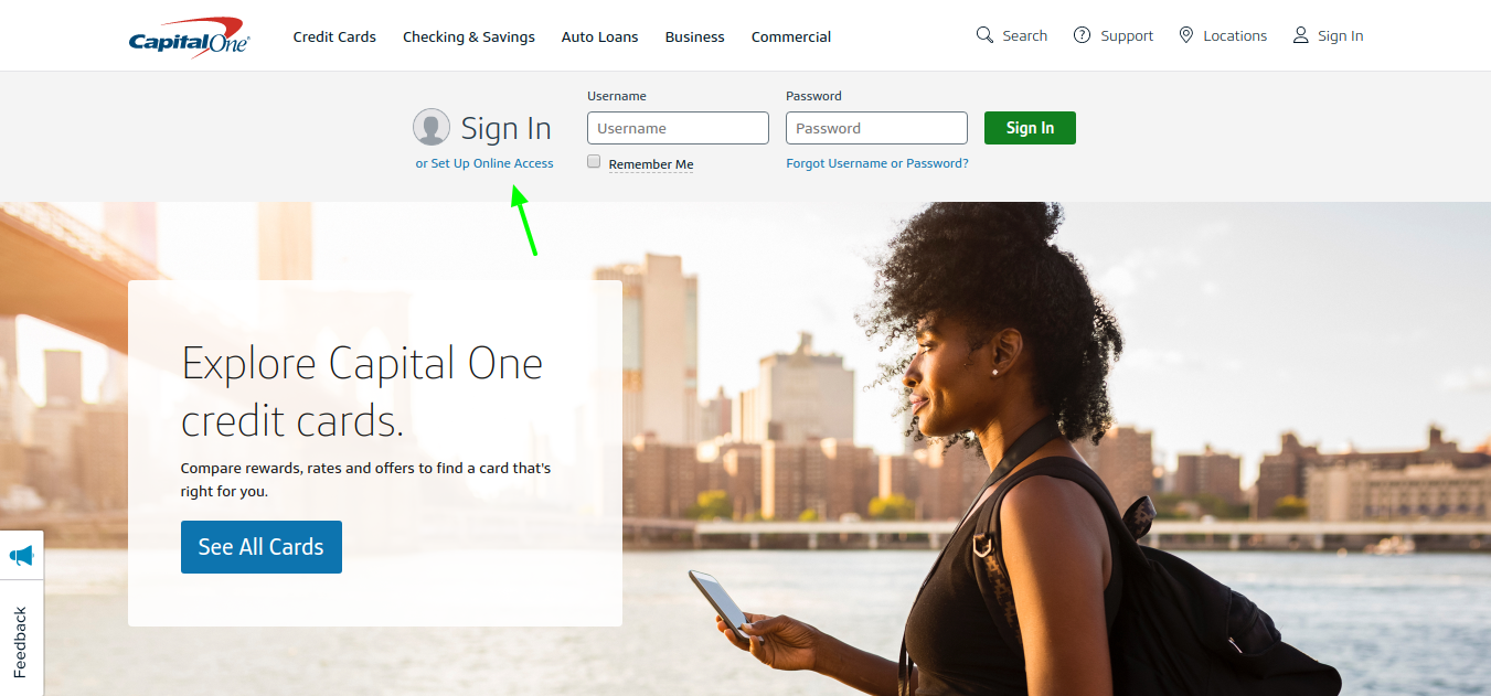 Capital one credit card online access