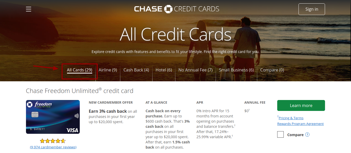 chase-all-credit-cards