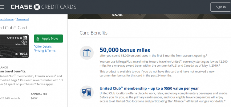 creditcards.chase.com – Pay The Chase United Mileageplus Club Card Bill