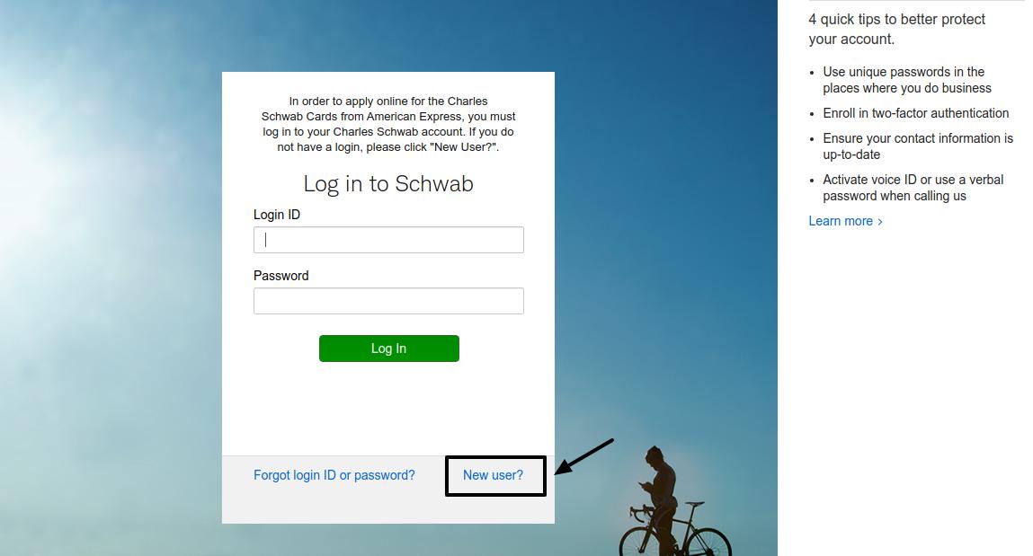 Charles Schwab New user