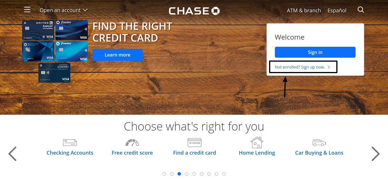 Chase Credit Card Enroll