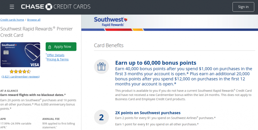 www.chase.com – Chase Southwest Rapid Rewards Premier Credit Card Bill Payment Guide