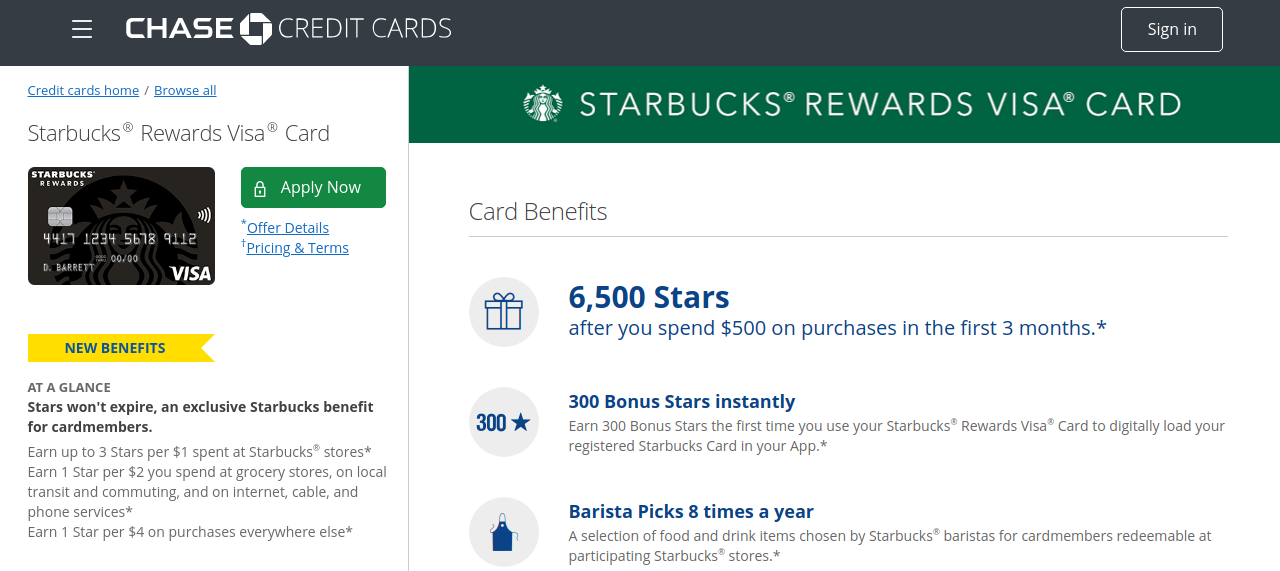 Starbucks Rewards Credit Card Logo