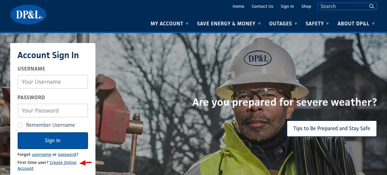 Dayton Power Light Company Create Account
