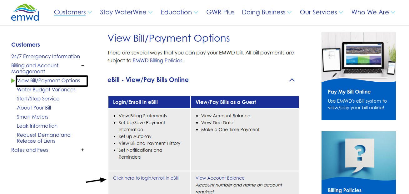 EMWD Bill Payment