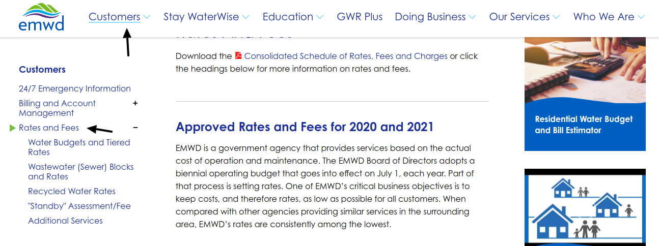 EMWD Rates and Fees