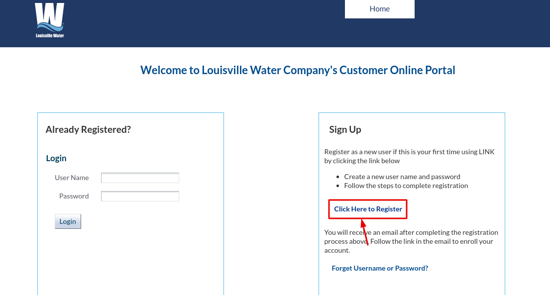 Louisville Water Company Register