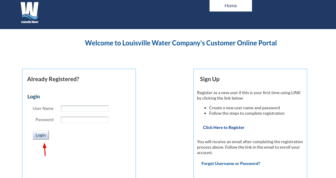 Louisville Water Login