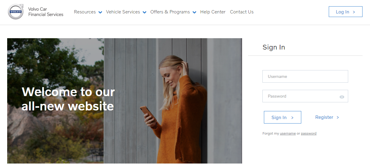 Volvo Car Financial Login