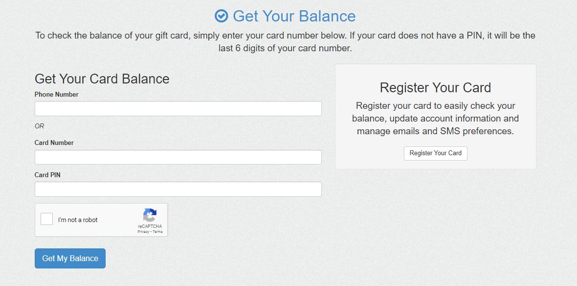 get your balance