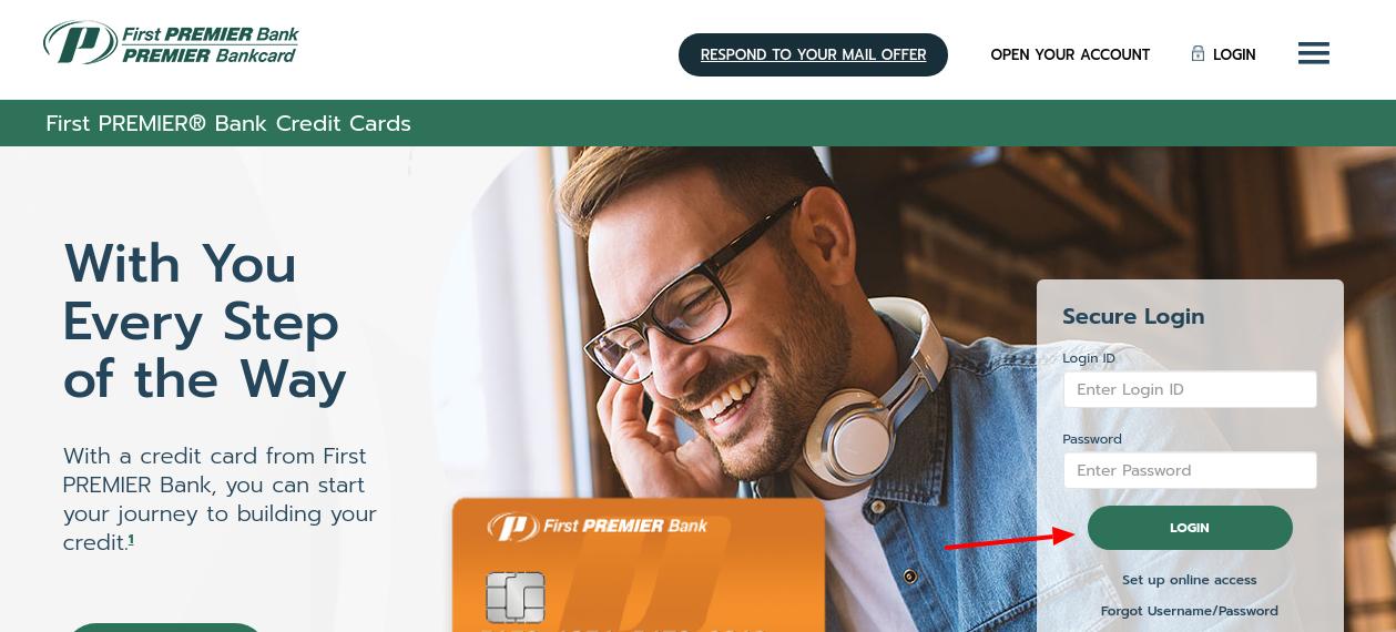 first premier bank credit card login